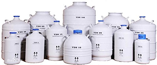 15L Cryogenic Container Liquid Nitrogen LN2 Tank with Straps and Carry Bag
