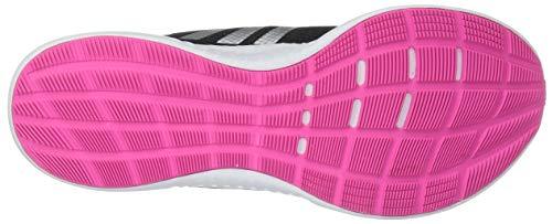 adidas Women's EdgeBounce Running Shoe, Black/Silver Metallic/Shock Pink, 5 M US by adidas (Image #3)