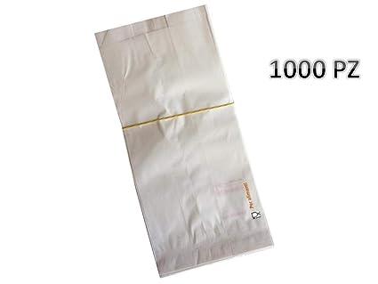 1000 Bolsas de papel blanco - Tamaño Cm. 12 x 26 bolsas de ...