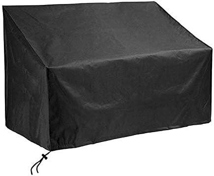 ガーデンベンチカバー、防水210Dオックスフォード生地屋外のベンチシートカバー防塵アンチUVガーデン家具カバー,黒,3 seater