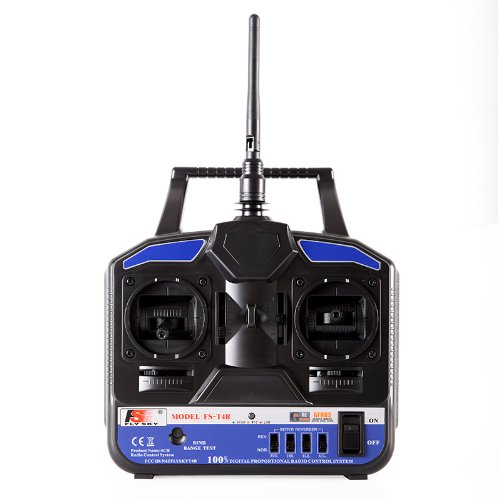 Kingzer FS-T4B 2.4G 4CH Radio Control RC Transmitter & Receiver for Helicopter Airplane by KINGZER (Image #8)