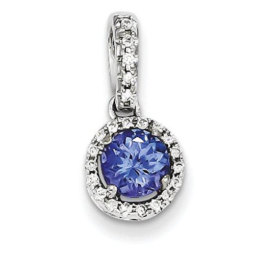 Or blanc 14 carats-Tanzanite-Diamant-JewelryWeb