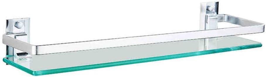 O/&YQ Accessoires de Salle de Bain//Cuisine Etag/ère Murale pour Salle de Bain avec Rail Aluminium Et Tablettes de Douche en Verre Tremp/é Extra /Épais Style Style Rectangulaire Contemporain