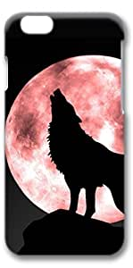 iPhone 6 Case, Personalized Design Protective Covers for iPhone 6(4.7 inch) PC 3D Case - Wolf Blood Moon