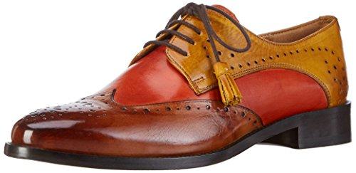 Melvin&Hamilton Betty 3, Zapatos de Cordones Derby para Mujer Multicolor - Mehrfarbig (Crust Tan, Orange, Yellow/LS)