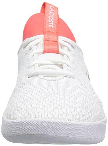 Lacoste Women's Lt Spirit 2.0 118 1 Spw Sneaker, White/Pink, 10 M US