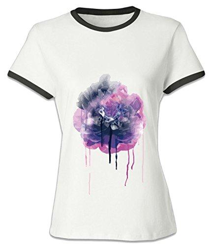 Halloween Springfield Mo (Crossing Womens Plant Flower Art Inkjet Style Effect T-Shirt for Women XXXL)