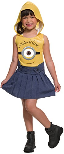 Rubie's Minion Face Hooded Dress, Small ()
