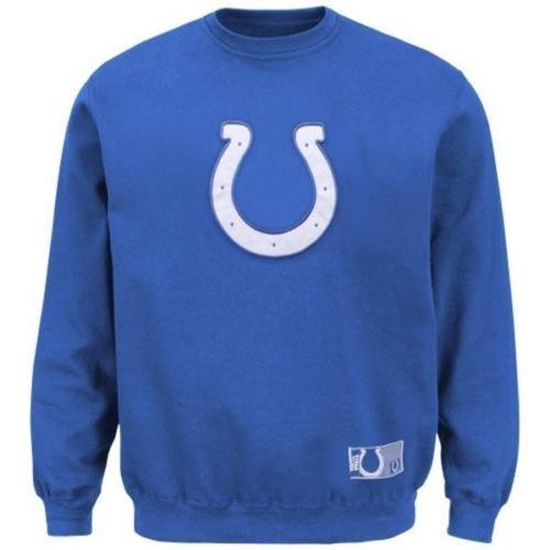 Indianapolis Colts NFL Mens Majestic Classic KDF Sweatshirt Royal Blue Big & Tall Sizes (2XT)