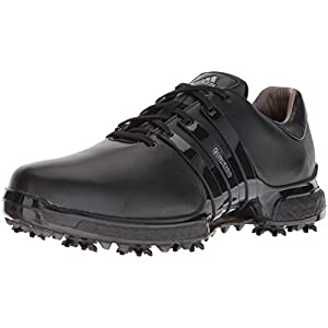 adidas Men's Tour 360 2.0 Golf Shoe, Core Black, 12 M US