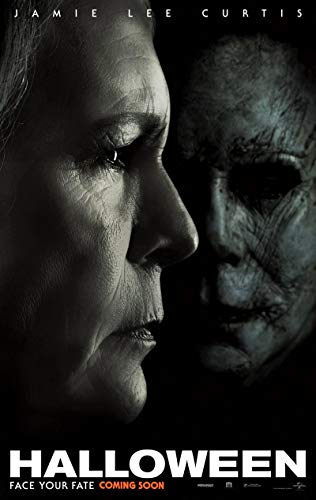 HALLOWEEN MOVIE POSTER 2 Sided ORIGINAL INTL Version B 2018 27x40 MICHAEL MYERS]()