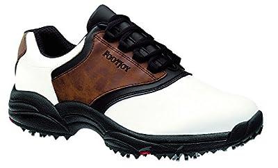 FootJoy GreenJoy Golf Shoe-Mens (Brown/Black/White)
