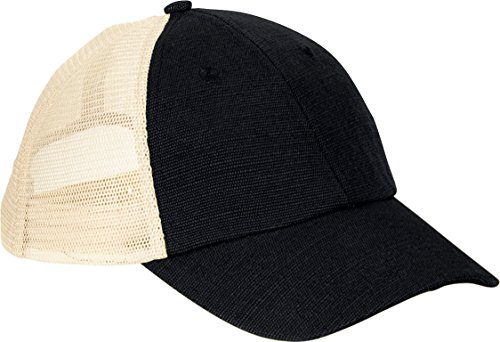 ZUZIFY Hemp Washed Soft Mesh Trucker Cap. LD1101 OS Black / Oyster
