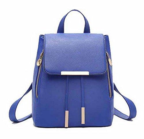 Daypacks Femme Sacs PU VogueZone009 Randonnée Daypack Dos CCAFBP180779 de Bleu Cuir à 40Utwqd