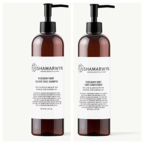 Rosemary Mint Shampoo & Conditioner Set, Sulfate Free, Natural-Organic, Essential Oils, Color Safe (Purifying Shampoo Rosemary)