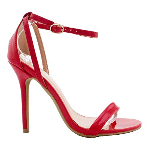 Red Sandal Heels: Amazon.com