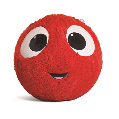 Fuzzbudds, Bouncy Balls, Ideal for Ball Pits, Balls for Toddlers, Boys, Girls, Kids Toys, Yard Games, Kids Stress Ball, Fuzzy Balls, Beach Toys, Machine Washable Fuzzy Cover and Pump Red Large 65cm]()