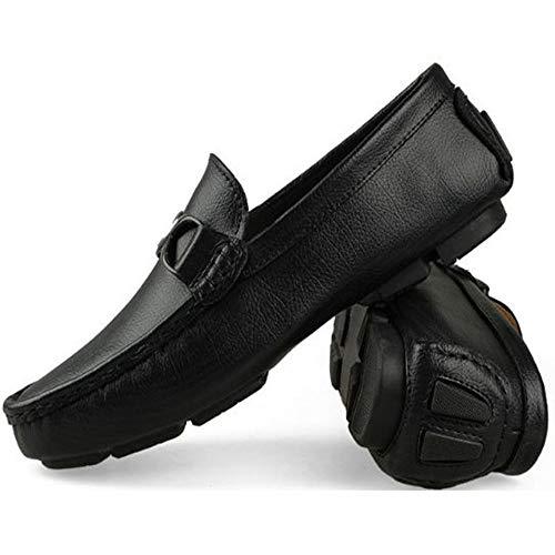 Microfibra Guida Uomo Nero Mocassini Scarpe Scarpe da da per Passeggio Set da di Piedi in Barca Scarpe Traspiranti da nn70UH