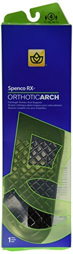 Spenco RX Full Length Orthotic Arch Supports Unisex 4 1 PR - Buy Packs and SAVE (Pack of 4)