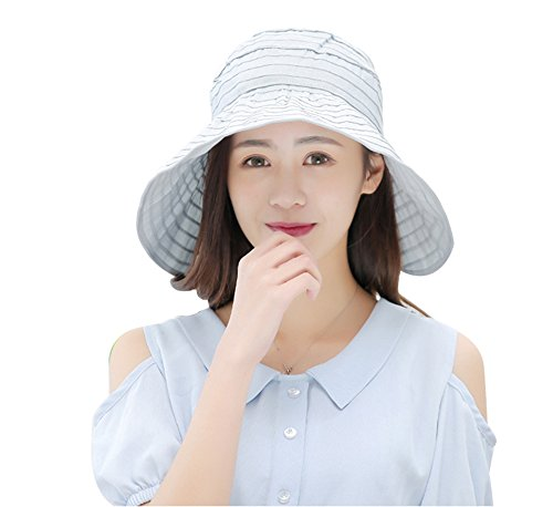 Women's Summer Reversible Empty top Beach Sun Brim Hat Sunshade Foldable Wide Brim Beach Cap UPF 50+ - Shades For Ladies