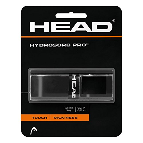 HEADHydrosorb Pro Tennis Racket Replacement Grip - Tacky Racquet Handle Grip Tape - Black