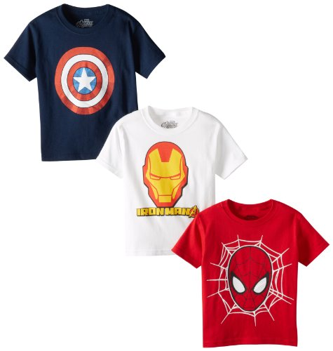 Marvel Boys 2-7 Logo Tee 3 Pack