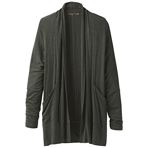 - prAna Foundation wrap Long Sleeve Tops, Forest Green Heather, Large