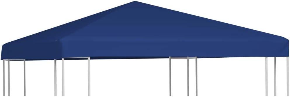 vidaXL Toldo de Cenador 2 Niveles 310 g/m² 3x3 m Azul Pabellón ...