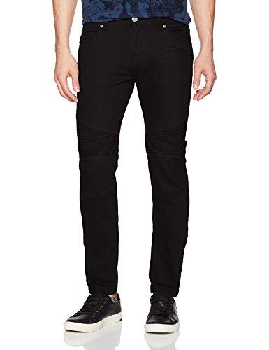 A|X Armani Exchange Men's Stretch Colored Moto Denim, Black - Jeans Armani Suits