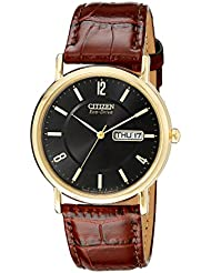 Citizen Mens Eco-Drive Stainless Steel Watch with Date, BM8242-08E