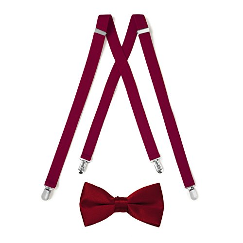 Suspender & Bow Tie Set (Kids, Apple Red) -