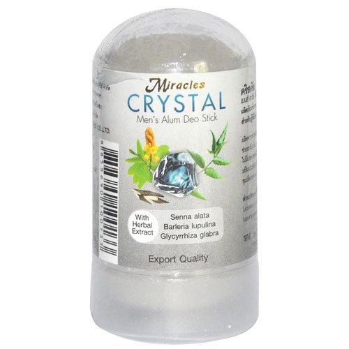 Thai Deodorants Miracles Crystal Men's Alum Deo Stick 60g (Pack of 2) (Deodorant Miracle)