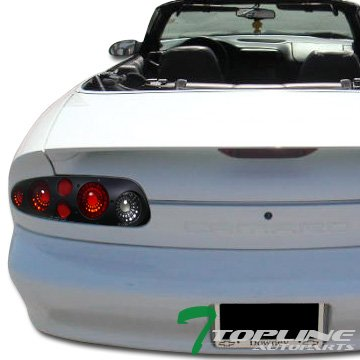 Topline Autopart Euro Black Clear Altezza Tail Lights Rear Brake Lamps 93-98-02 Chevy Camaro Z28 - 1997 Z28 Camaro