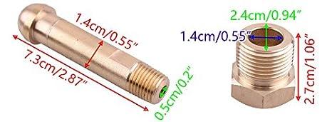 Fulfilled by Seller CGA-580 Brass Nut and 3 Inch Nipple Regulator Helium Argon Nitrogen Inlet Bottle Fittings