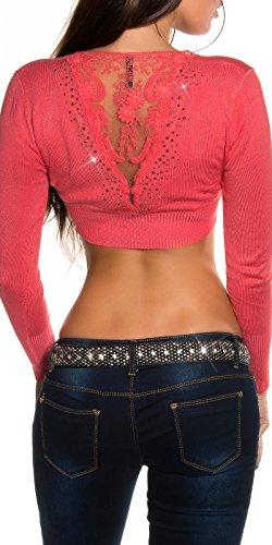 Pack de pantalón corto deportivo mujer estas picas de enbroidery Toreras incluye funda de atril y brillantes. UK 6/8/10. Coral