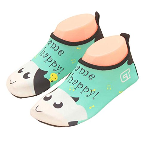 Kids Beach Shoes Sports Shoes Water Shoes Soft Shoes Indoor Shoes Sock Shoes Green/White YLDK1RIOy2