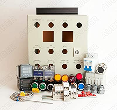Auber Instruments Powder Coating Oven Controller Kit w/Light & Fan Control, 240V 50A 12000W (KIT-PCO2-LF)