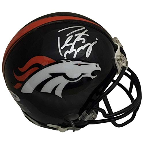 Peyton Manning Autographed Denver Broncos Signed Football Mini Helmet PSA DNA COA