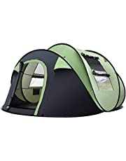 Weisshorn Camping Tents 4-12 Person Family Cabin Canvas Swag Hiking Beach Backpacking Picnic Tent Camping Gear Outdoor Equipment Shelter with Carry Bag