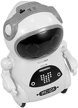 Amazon.es: RC TECNIC Mini Robot Interactivo para Niños Reconoce Tu Voz Responde Español Baila Música | Pocket Toy Robot | Juguete electronico Infantil de Bolsillo (Blanco)