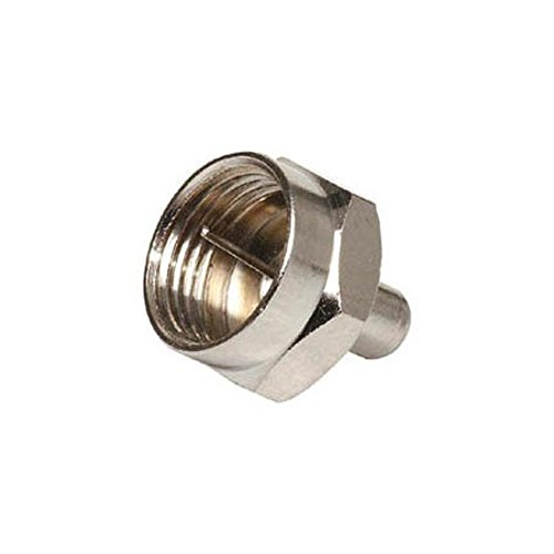 Premium F-Port Terminator Up to 3 GHz High Performance Connector 75 Ohm End Cap Digital Signal Line Connector Impedance Match Plug, Component Adapter