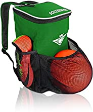 Soccer Backpack with Ball Holder Compartment - for Kids Youth Boys & Girls   Fits All Soccer Equipment &am