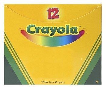 Crayola Single Color Crayon, 12 Count Box, Red; no. BIN520836038]()