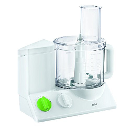 Braun FP3020 12 Cup Food Processor Ultra Quiet Powerful motor, includes 7 Attachment Blades +...