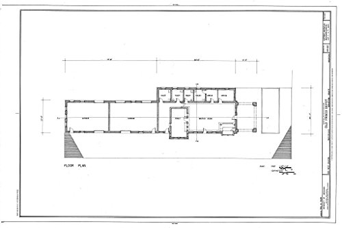 Historic Pictoric Blueprint Diagram HABS ARK,72-FAYV,4- (Sheet 2 of 5) - Old Frisco Depot, 550 West Dickson, Fayetteville, Washington County, AR 12in x 08in -