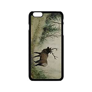 Sketch Painting Deer Hight Quality Plastic Case for Iphone 6