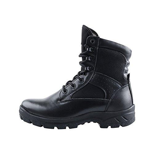 RIELD Men's RABB Black Classic Combat Boots 9.5 D(M) US Men (Men Black Boots)