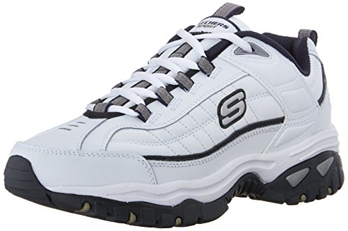 Skechers Men's Energy Afterburn Lace-Up Sneaker,White/Navy,8 M US