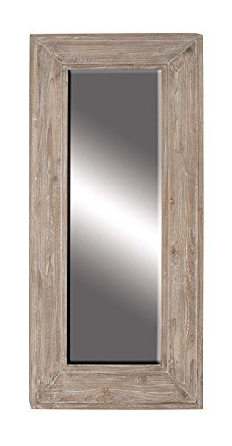 Deco 79 77936 Wall Mirror, Brown