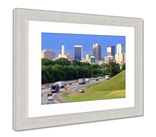 (Ashley Framed Prints Birmingham, Alabama Skyline, Wall Art Home Decoration, Color, 34x40 (Frame Size), Silver Frame, AG32675129)